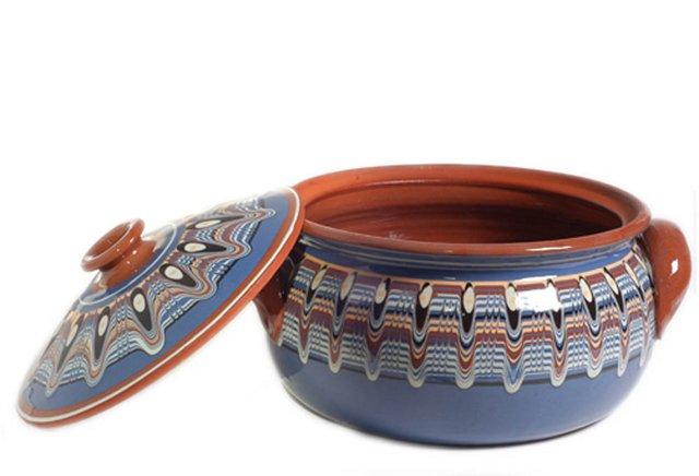 Blue Lidded Casserole Dish, Large