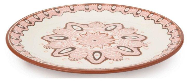 Mandala Dinner Plate, Rose