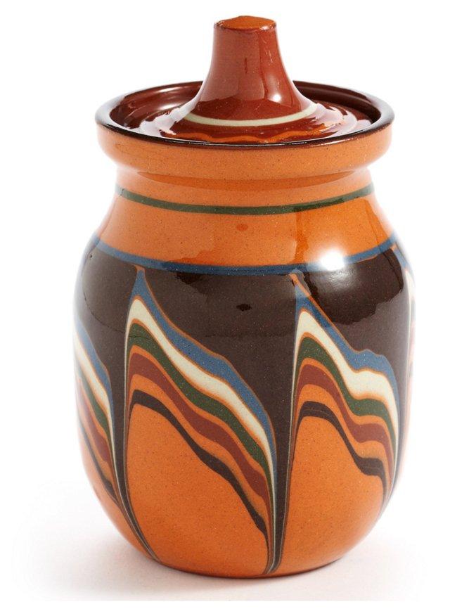 S/4 Bairak Lidded Jars, Pumpkin