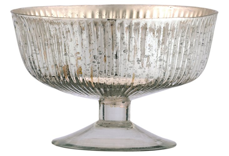 Antiqued Silver Bowl, Large