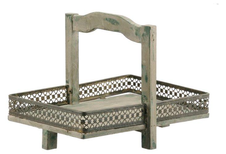 Wood Rectangular Tray w/ Handle