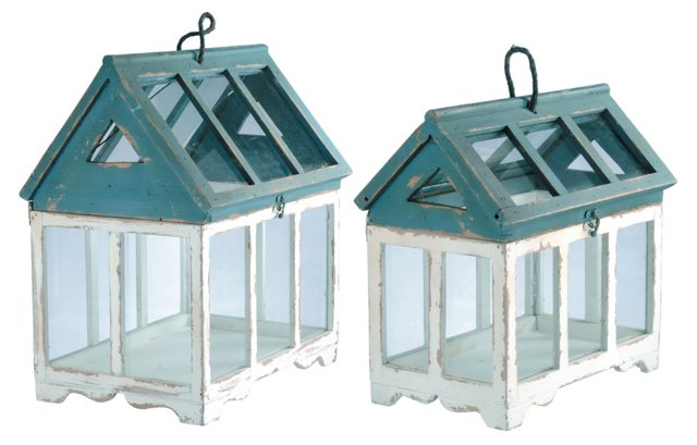 Birdhouse Terrariums, Asst. of 2