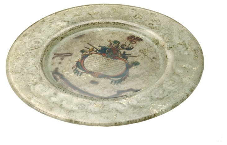 """9"""" Glass Cartographic Plate"""