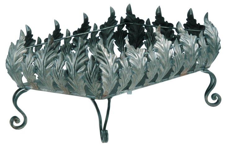 Iron Rectanglular Leaf Planter