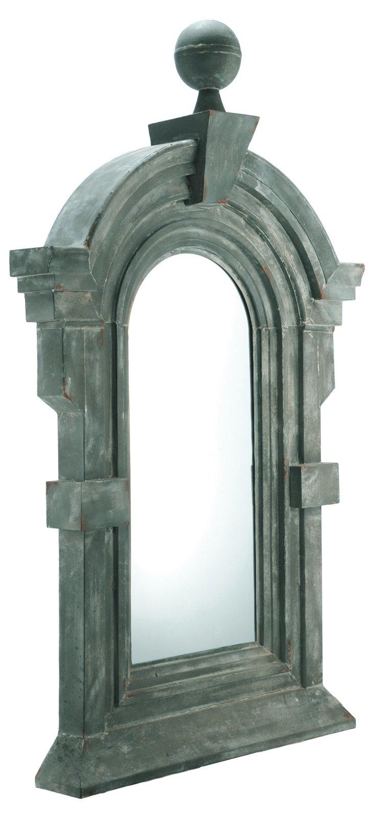 Mansard Iron Mirror