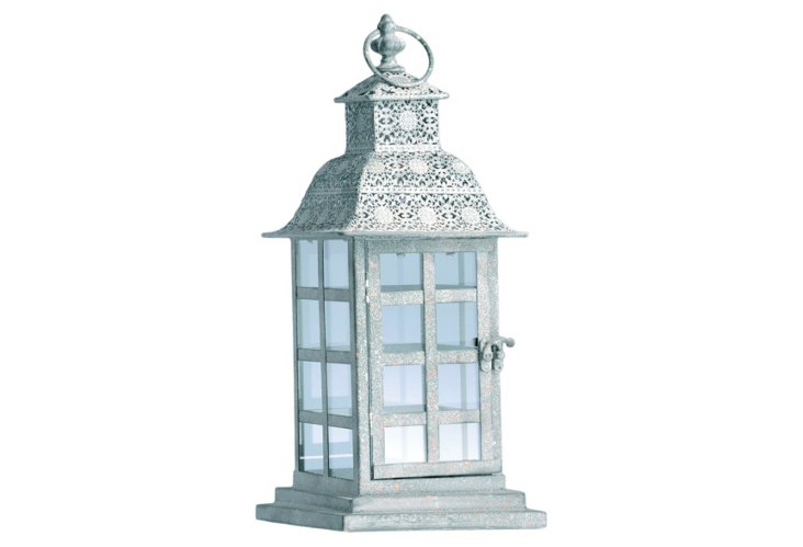 "17"" Window Pane Lantern"