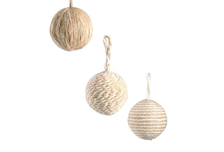 "S/3 2"" Ball Ornaments"