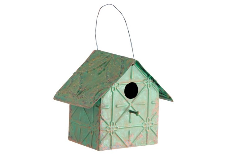 Weathered Birdhouse, Green