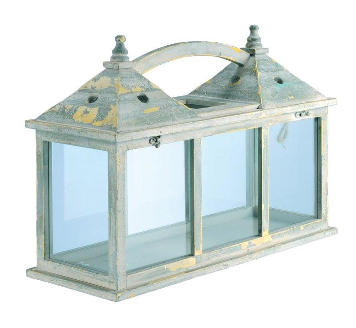Wood & Glass Double Lantern