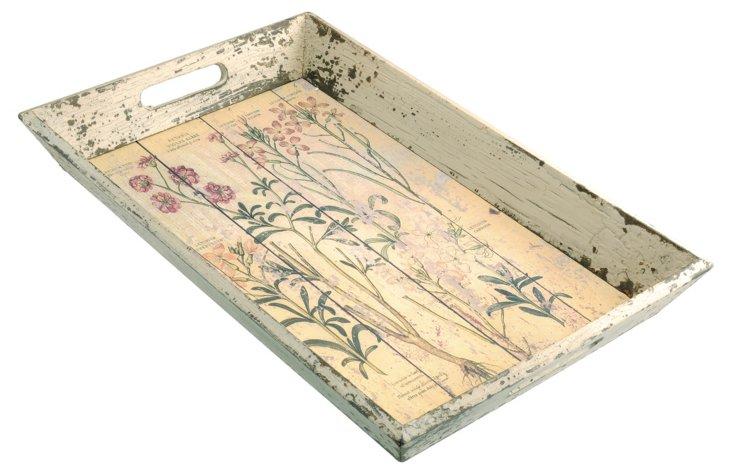 Botanical Print Tray