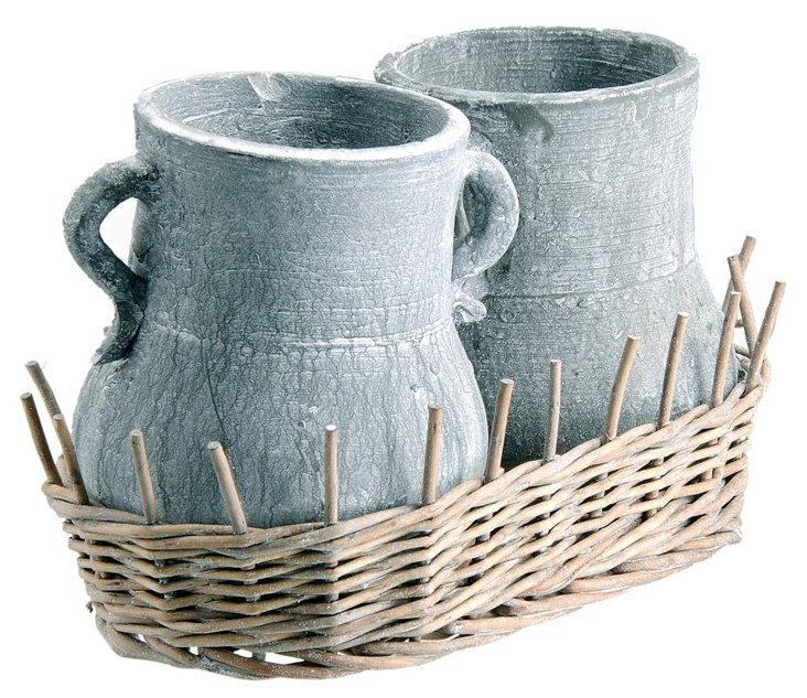 Willow & Clay Pots Set