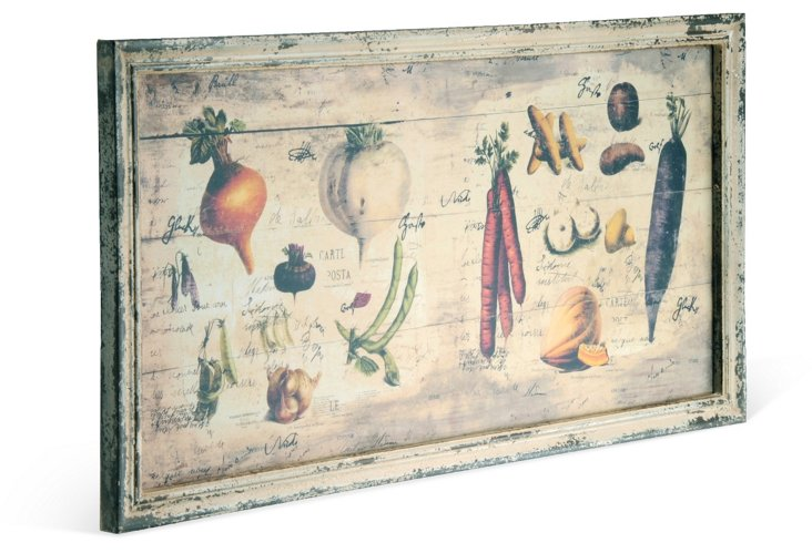 Produce Wood Plaque