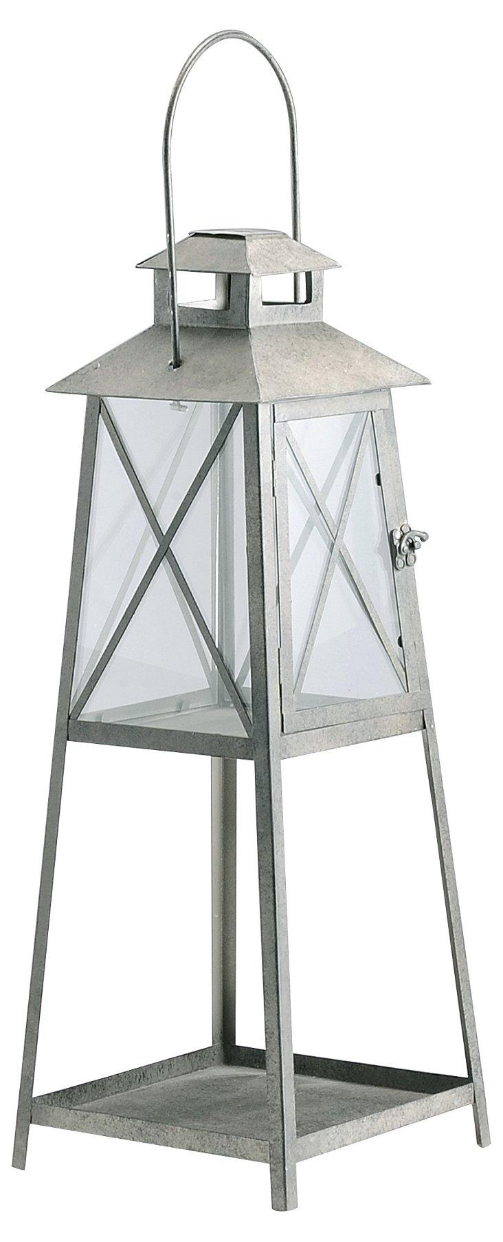 Metal & Glass Standing Lantern