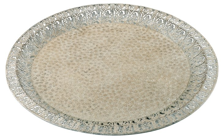 "20"" Metal Lace Tray"