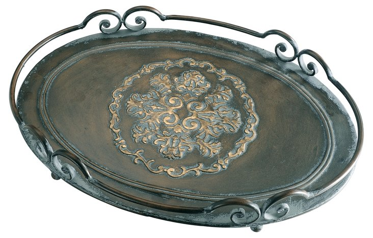 Iron Filigree Tray