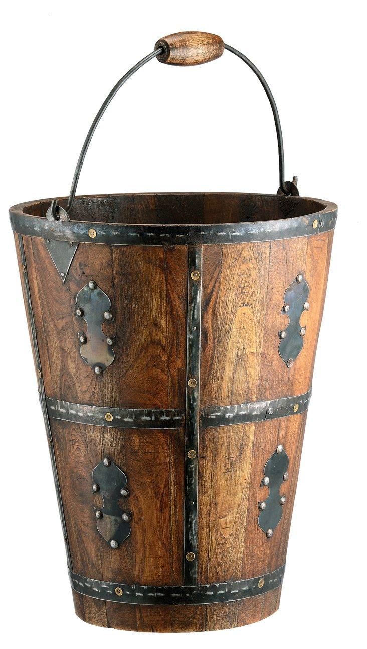 "13"" Bracketed Barrel, Brown/Black"