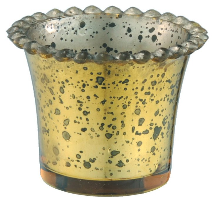 S/2 Victoria Votive Holders, Yellow