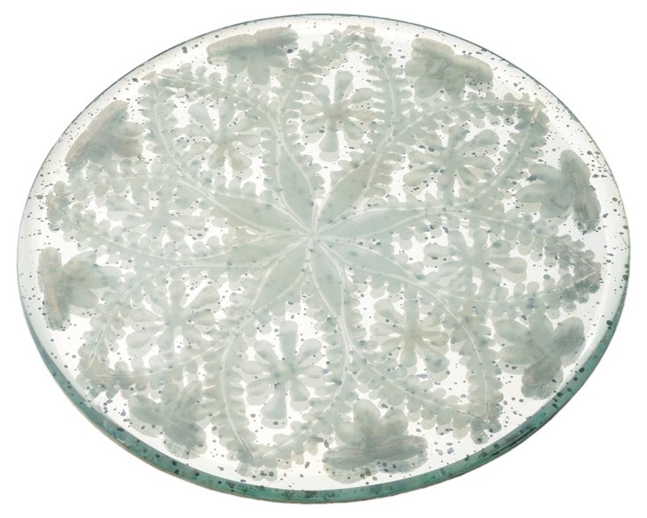 """8"""" Etched Mirror Tray"""