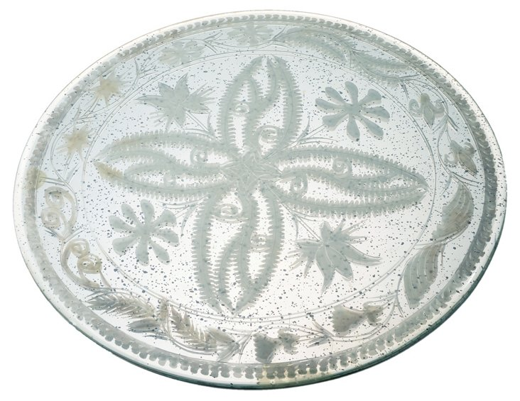 """16"""" Etched Mirror Tray"""