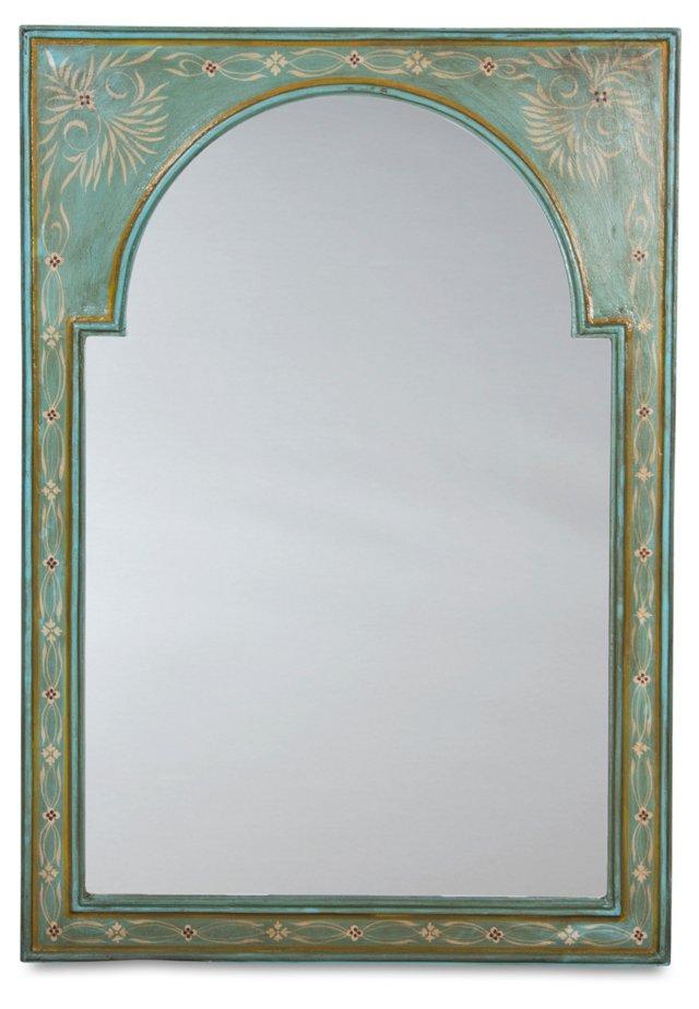 Valentine Oversize Mirror, Turquoise