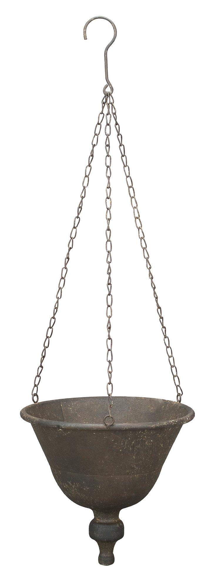 "8"" Hanging Planter, Silver"
