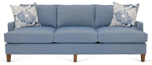 """Bethel 84"""" Sofa, Denim Blue"""