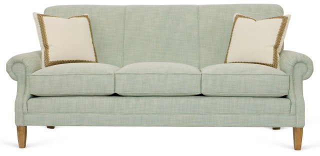 "Beale 79"" Roll-Arm Sofa, Capri Blue"