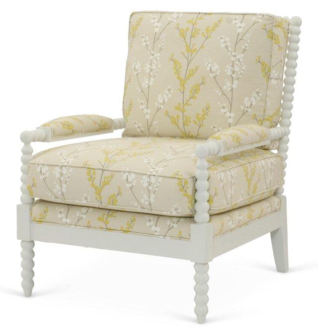 Bankwood Spindle Chair, Lemongrass