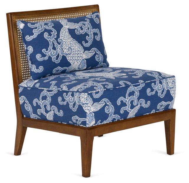 Inglewood Chair, Blue/White