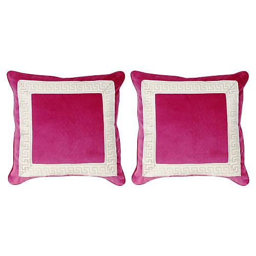 S/2 Robertson 20x20 Pillows, Sangria