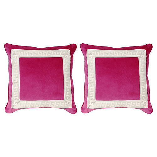 S/2 Robertson Pillows, Sangria