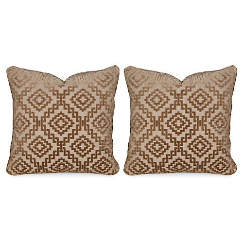 S/2 Drake Sable 20x20 Pillows, Tan