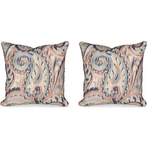 Boston Manor 19.5x19.5 Pillows, Indigo