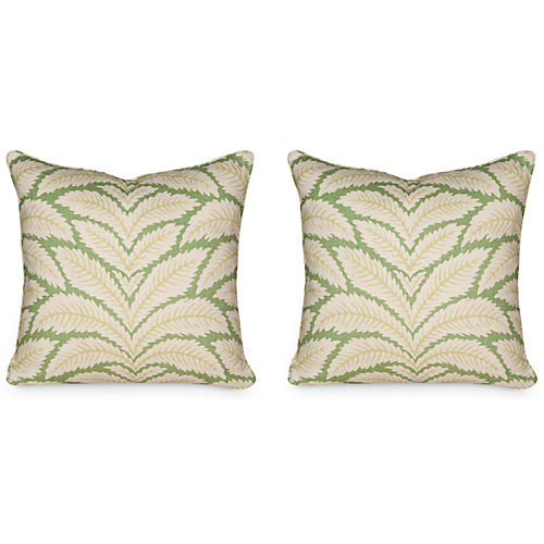 S/2 Talavera 19.5x19.5 Pillows, Green