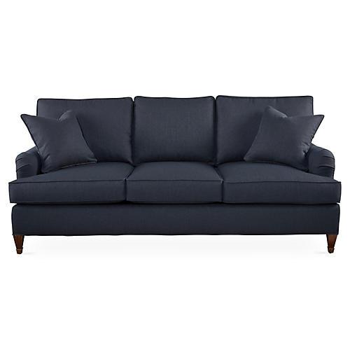 "Brockville 83"" Sofa, Navy"
