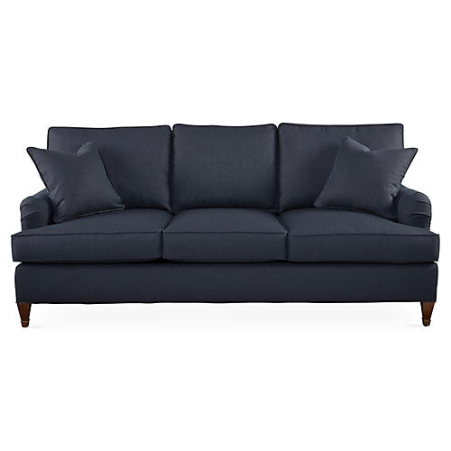 "Brockville 83"" Sofa, Navy"