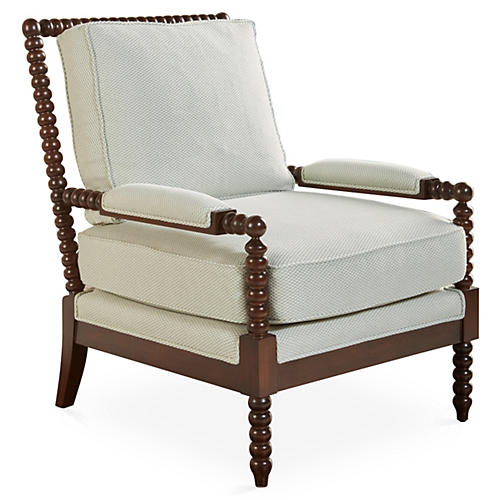 Bankwood Spindle Chair, Cream/Espresso