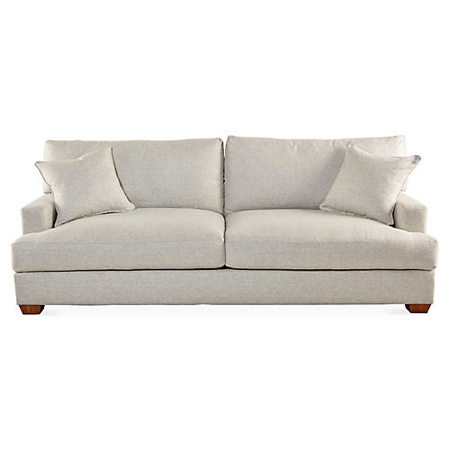 "Logan 93"" Sofa, Gray"