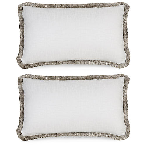 Flen Bianco Pillows, White/Gray