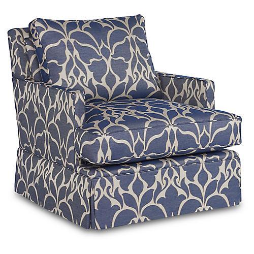 Bloomfield Swivel Chair, Indigo