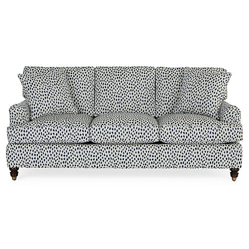 Kate Sleeper Sofa, Navy Spot Sunbrella