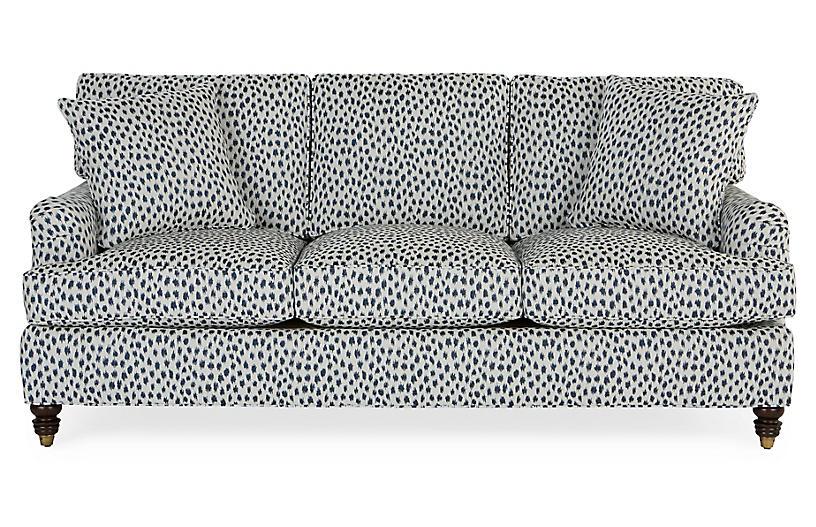 Kate Sleeper Sofa, Navy Spot Sunbrella