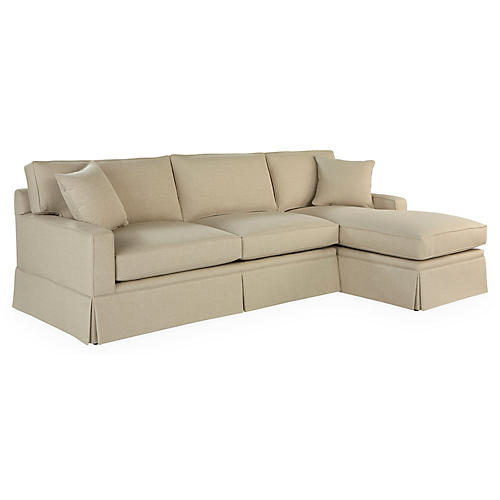 Liza RF Skirted Sleeper, Tan Crypton