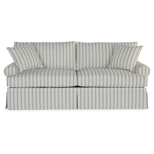 "Maya 82"" Sleeper Sofa, Stripe Sunbrella"