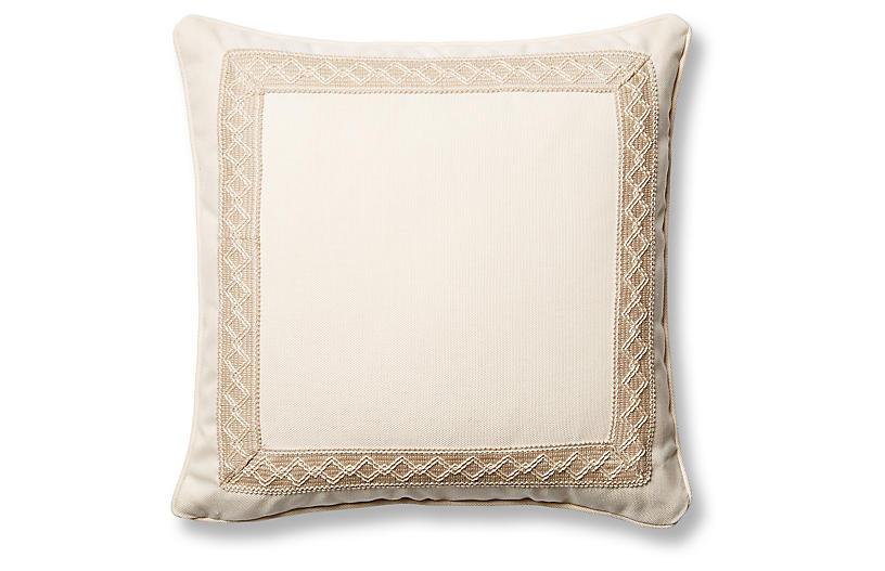 Sail 20x20 Pillow, Natural Sunbrella
