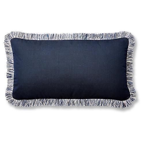 Meridia 12x23 Lumbar Pillow, Indigo Sunbrella