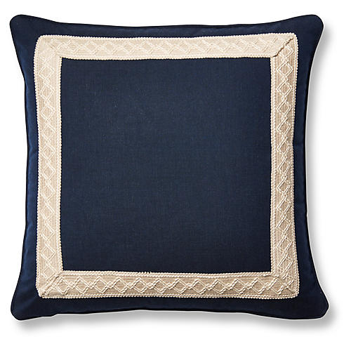Meridia 20x20 Pillow, Blue Sunbrella