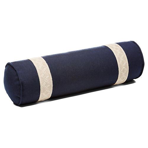 Meridia 7x21 Bolster Pillow, Blue Sunbrella