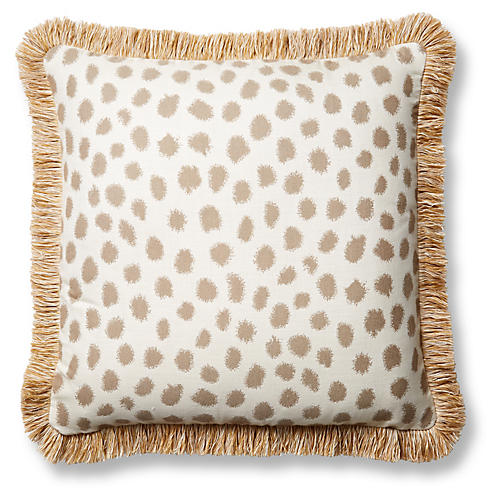 Polka 20x20 Pillow, Taupe Sunbrella