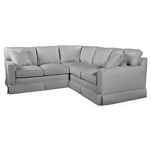 Millburn Sectional, Gray Crypton